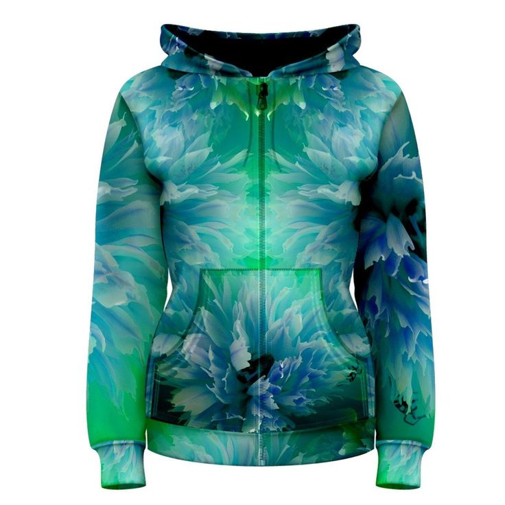 In Bloom, Women's Zipper Hoodie       Made from: 100% Polyester     Quality YKK zipper     Adjustable drawstring hood     Standard Fit     Machine Washable