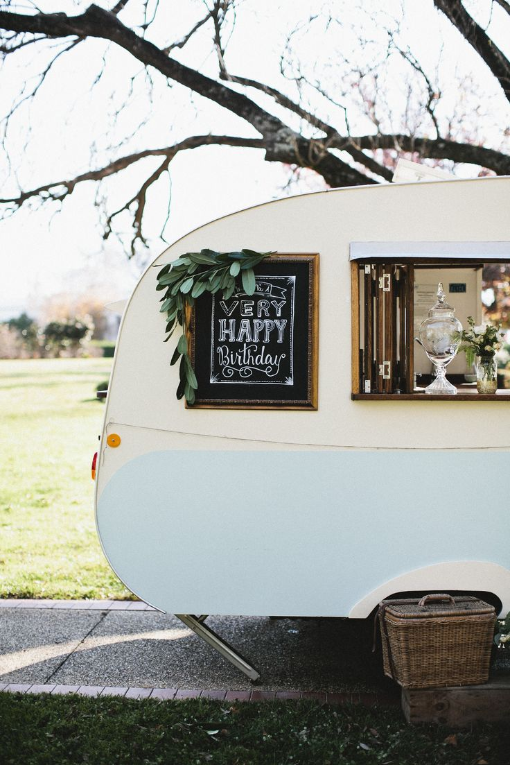 My Sweet Alice. Vintage caravan, pop-up bar and cafe. Perfect for first birthday parties!