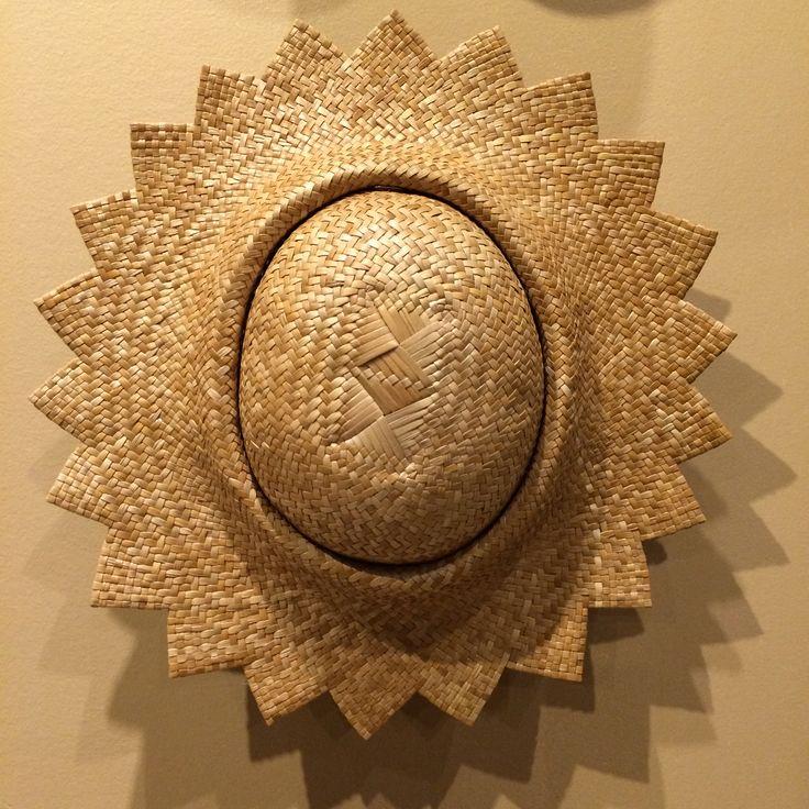 Nani I Ka Hala: Weaving Hawai'i. One of the many hats on the hat wall.