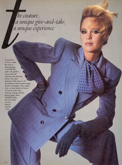 Women would 'dress for success' during the 80s and rocked ...