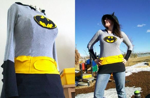 DIY Superhero Costume : DIY Homemade Batman Hoodie Is The Best Superhero Fashion Item You'll See All Day :DIY Halloween DIY Costumes