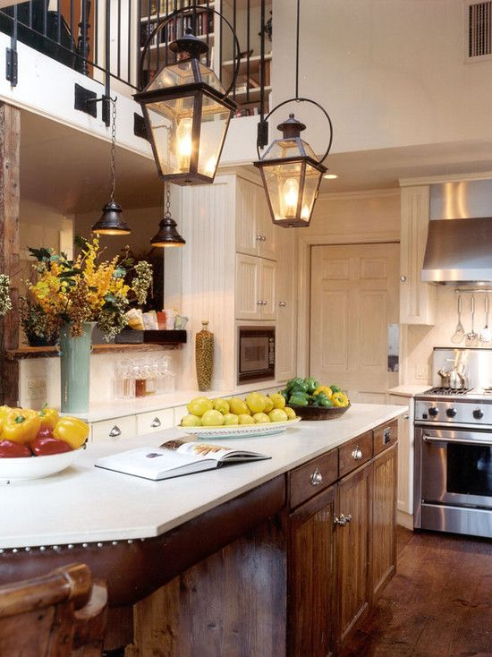 Kitchens With Lanterns For Lights Home Interior Kitchen Island Lighting Traditional Decor