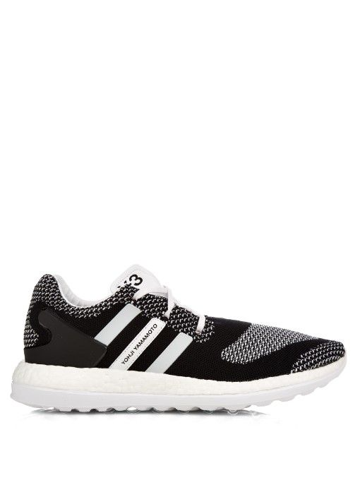 A knitted construction makes them ultra-lightweight, while the chunky white  Adidas Boost� midsole adds bounce to every step. Runs ...