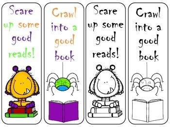 free halloween bookmarks - Halloween Bookmarks To Color