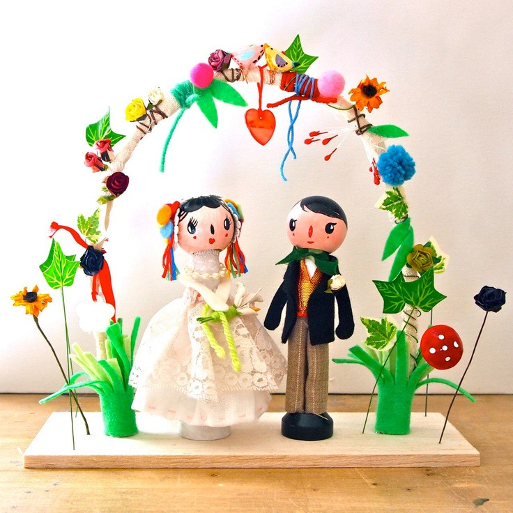 Peg Cake Toppers