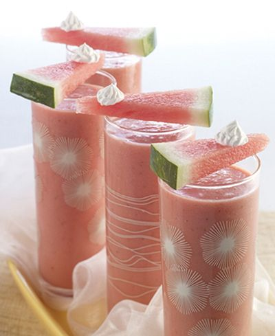This concoction is sure to be a hit … so have more ingredients on hand to make multiple servings. Ingredients 1 cup seedless watermelon chunks 1 cup trimmed strawberries, cut in half ½ cup coconut cream 1 to 2 shots spiced rum Mini watermelon wedges for garnish ½ cup sweetened whipped topping Directions Blend watermelon, strawberries, coconut cream and rum just until smooth. Place in freezer for one hour, stirring …
