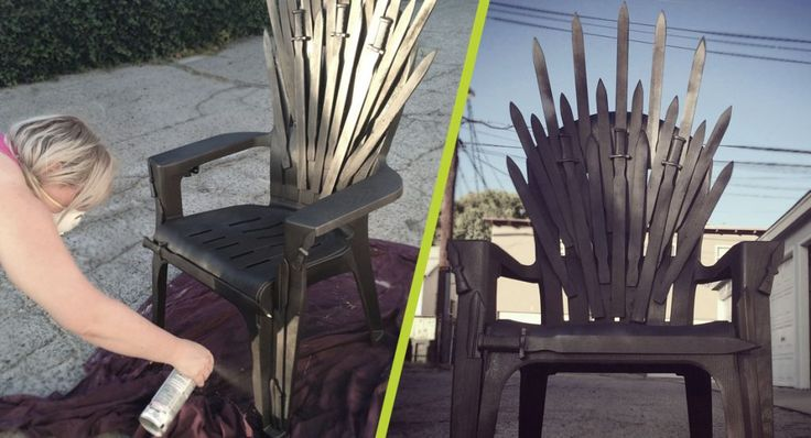 DIY: Iron Throne make your own Iron Throne for your next Game of Thrones Party!