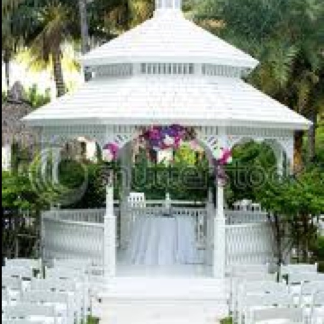 Gazebo decorated for wedding gazebo pinterest for Outdoor wedding gazebo decorating ideas