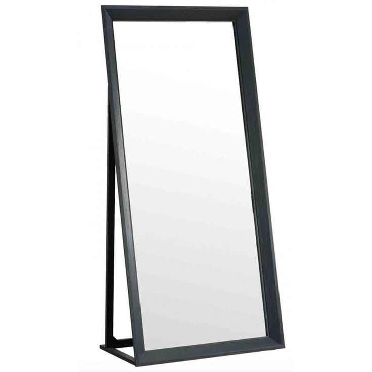 Maine Dressing Mirror 1900mm High Charcoal - Mirrors & Valets - Bedroom