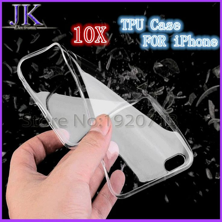 cool 10pcs Transparent Clear Case for iPhone 5c 5S SE 6 6S 7 Plus Soft Silica Gel TPU Silicone Cover Ultra Thin Mobile Phone Case