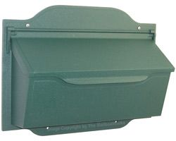 Contemporary Horizontal Wall Mount Mailboxes Evergreen