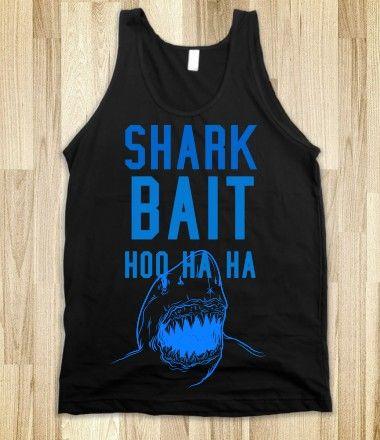 Shark Bait Hoo ha ha tank top tee t shirt