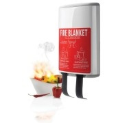 Vulcan helps extinguish small fires at one time. 1x1 meter fire blanket is stored in an elegant design cover, which is easy to hang in your kitchen. This allows you to have an extinguishing blanket available for immediate use, rather than keeping it in a drawer. Design Case, Blanket fiberglass. The product is EN 1869 compliant.  http://www.odora.eu/product/vulkan/