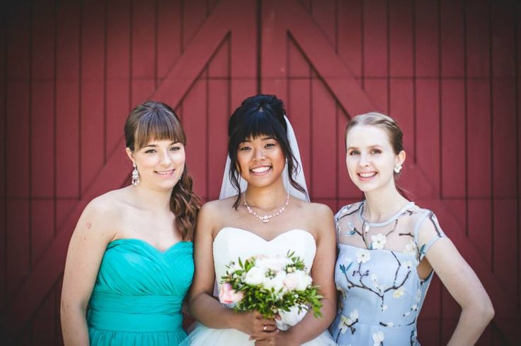 Bride and 2 maids of honour