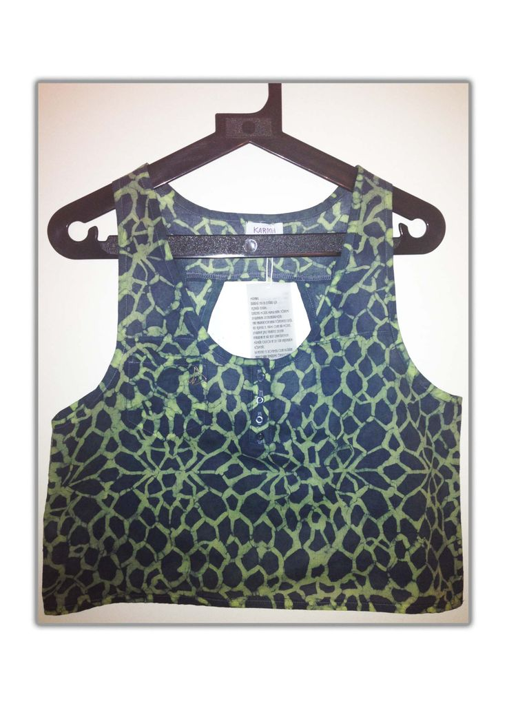Organic Green Crop Top