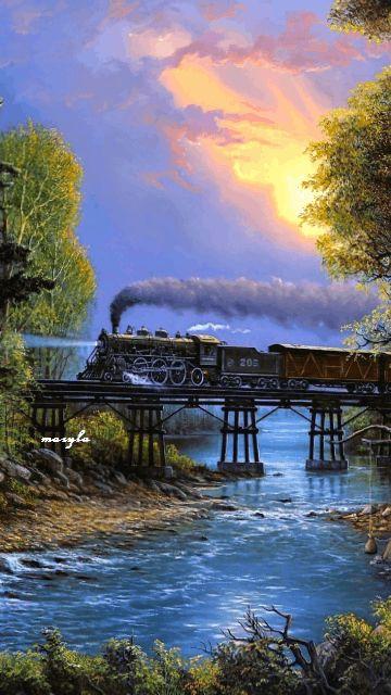 A Vida é como uma viagem de trem (Autor Desconhecido)      A nossa vida é como uma viagem de trem, cheia de embarques e   desembarques, ...