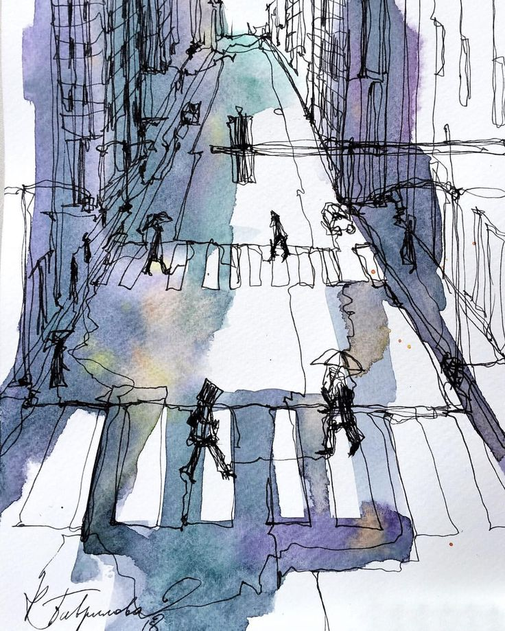 Sketch by artist Kristina Gavrilova @xtina_gavrilova_art в Instagram: «NY One line one sketch #aquarell #art #painting #watercolor #watercolour #sketch #paint #drawing #sketching #sketchbook #travelbook #archisketcher #sketchaday #sketchwalker #sketchcollector #traveldiary #topcreator #usk #urbansketch #urbansketchers #скетчбук #скетч #скетчинг #pleinair #aquarelle #watercolorsketch #usk #architecture #painting #illustration