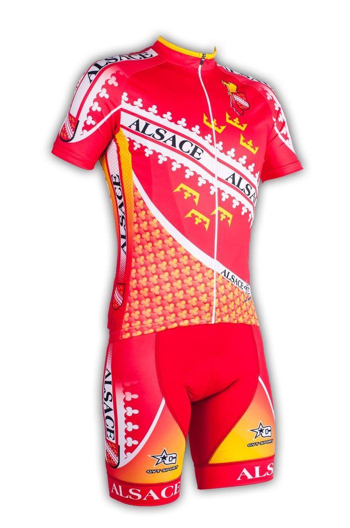 Gvt Alsace Bike - Maillot et cuissard cycliste homme en édition limitée