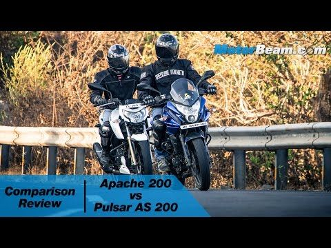 TVS Apache 200 vs Pulsar AS 200 - Comparison Review | MotorBeam   5:07  TVS Apache 200 vs Pulsar AS 200 - Comparison Review | MotorBeam  MotorBeam  1 month ago  123780 views  http://ift.tt/24VkSfTcompares the recently launched TVS Apache 200 against the Pulsar AS 200 to see which of these...  CC  Automobiles