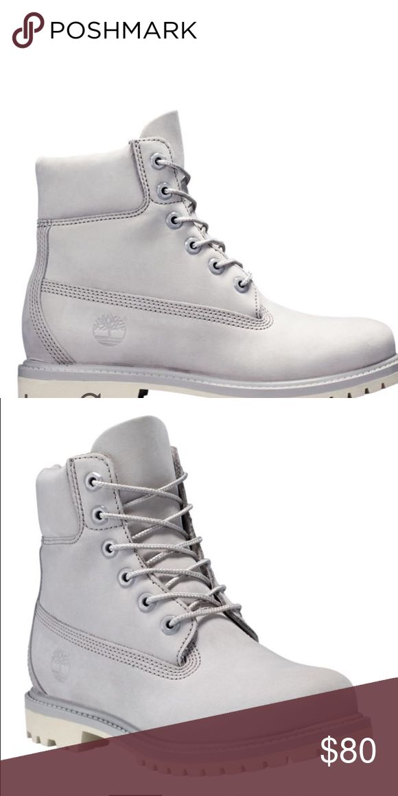Grey Timberland boots Women's grey Timberland boots (like new) with box // fits like US size 6 Timberland Shoes Ankle Boots & Booties
