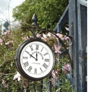 outdoor clock and double sided