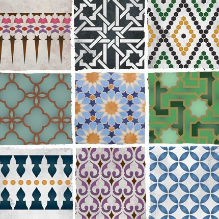 Moroccan Stencils from the Royal Design Studio