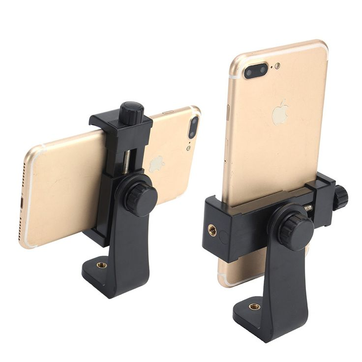 Tripod Mount/Cell Phone Clipper Vertical Bracket Smartphone Clip ...