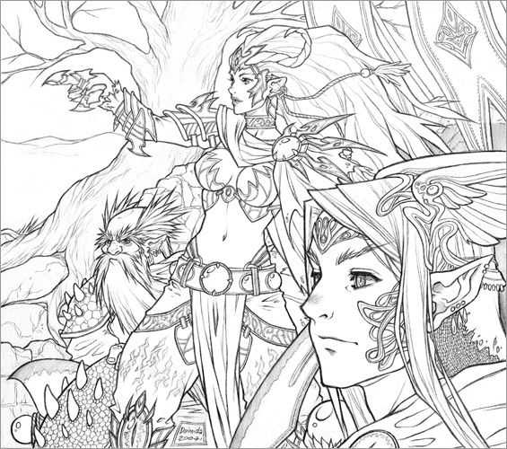 Detailed Coloring Pages For Adults | ... The Search Engine YOU Control - Image - highly detailed coloring pages