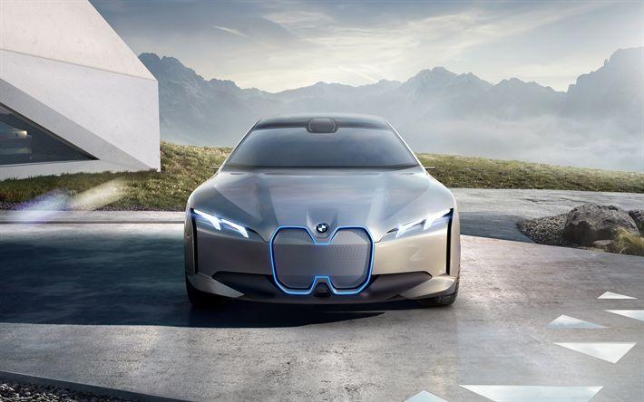 Descargar fondos de pantalla BMW I Visión Dinámica, 4k de 2017, coches, concepto coches, coches alemanes, BMW
