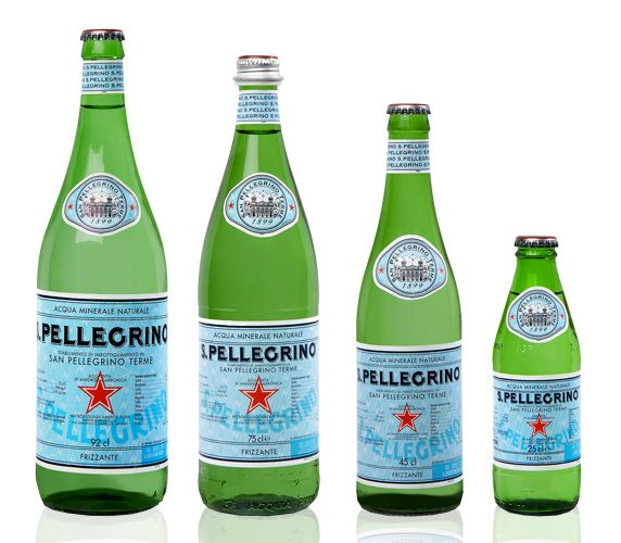 San Pellegrino water. The italian style in a bottle of water. Copyright San Pellegrino S.p.a