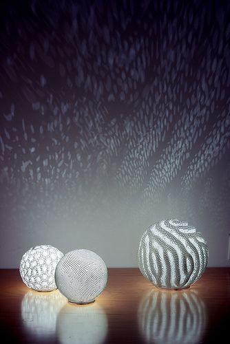 reaction lamps, by Nervous System.