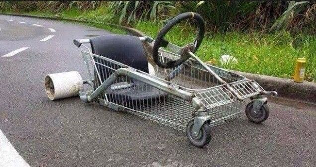 Shopping Trolley Drift Cart