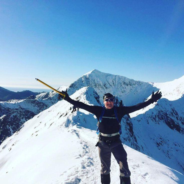 Tony Runacus #MEclimbing competetion Crib Goch & Snowdon in the background