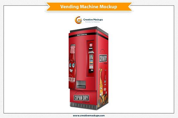 Vending Machine Mockup Template Mockup Template Mockup Templates