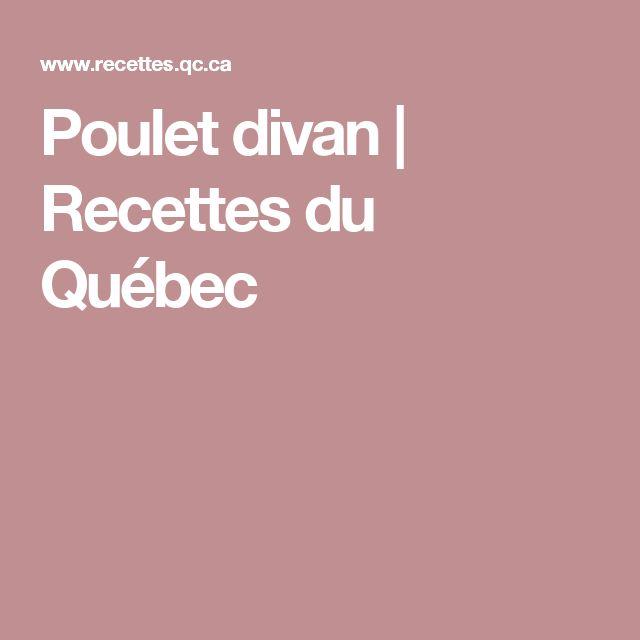 Poulet divan | Recettes du Québec