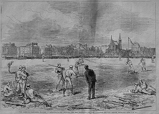 Boston Red Stockings in the UK: In 1874, it Just Wasn't Cricket - http://www.newenglandhistoricalsociety.com/boston-red-stockings-uk-1874-just-wasnt-cricket/