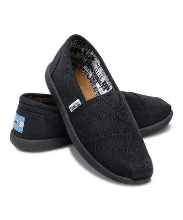 Take a look at this Black Canvas Classics for only $24 - Youth by TOMS Kids on @zulily today!