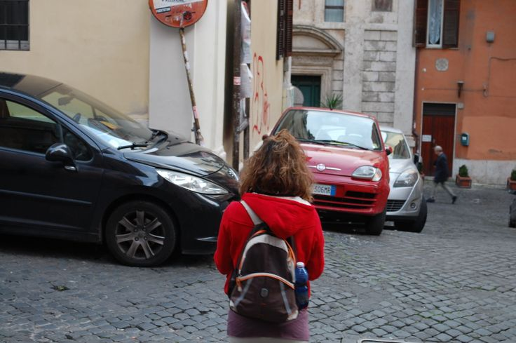 #red #car #outfit #monti #rome