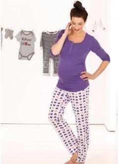 Emzirme Özellikli Pijama (2'li Takım), bpc bonprix collection, lila/baskılı