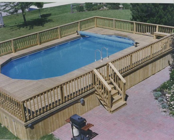 pictures of decks around pools | Finding the Right Deck Plans For Above Ground Pools : Deck Building ...