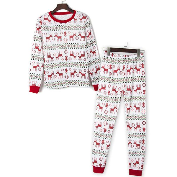 Mens Christmas Suit Home Reindeer Printing Sleepwear Set