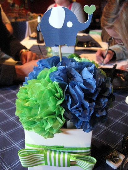 Elephant centerpiece...something like this for her first birthday party