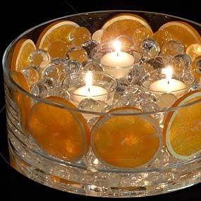 Centerpiece with Orange Slices.