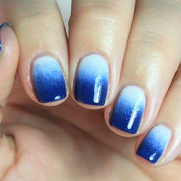 Nechty 2014 návod – modré ombré