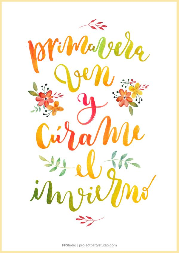 "Lámina Gratis Primavera ""Spring is in the Air"" Love Quotes, Inspirational Quotes, Fun Crafts For Kids, My Journal, Bullet Journal, Spanish Quotes, Brush Pen, Funny Cartoons, Wall Signs"