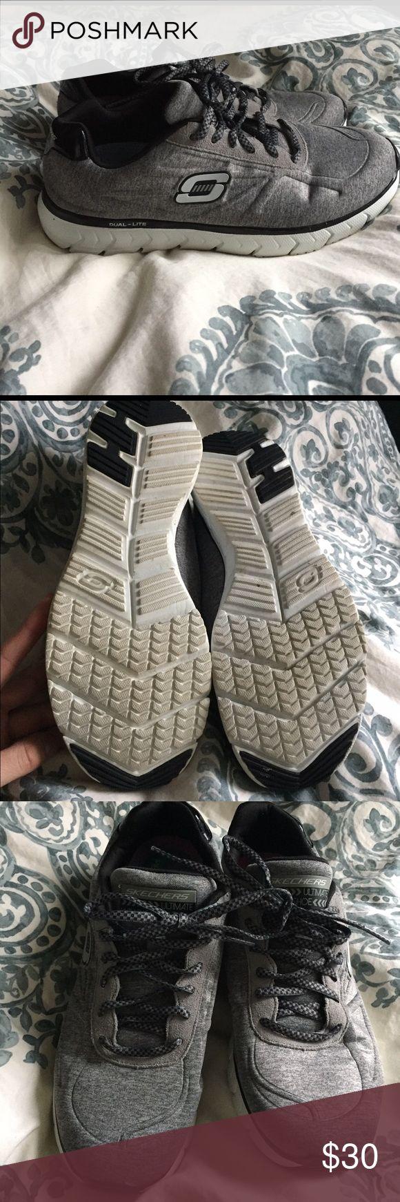 Skechers memory foam sneakers Skechers memory foam stability gel sneakers. Worn once. Size 8 run a little big. Unbelievably comfortable let new condition. Skechers Shoes Sneakers