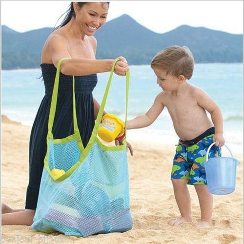 Enfants-Sac-A-Rangement-Pour-Plage-Jouet-Outil-de-Sable-Vetement-Serviette