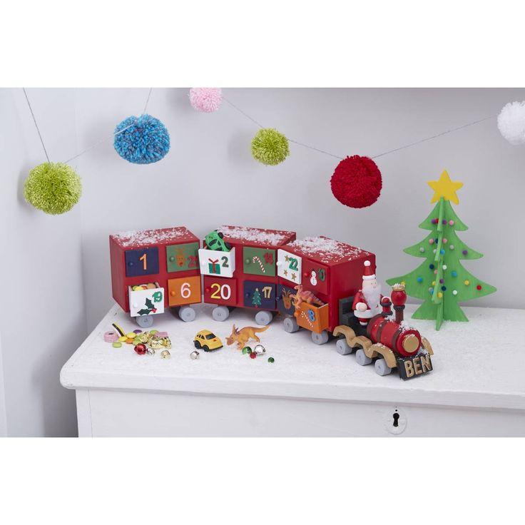Wooden Advent Calendar Train 55.5 Cm | Hobbycraft