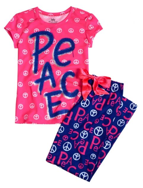 Peace 2 Piece Pajama Set | Girls Pajamas & Robes Pjs, Bras & Panties | Shop Justice