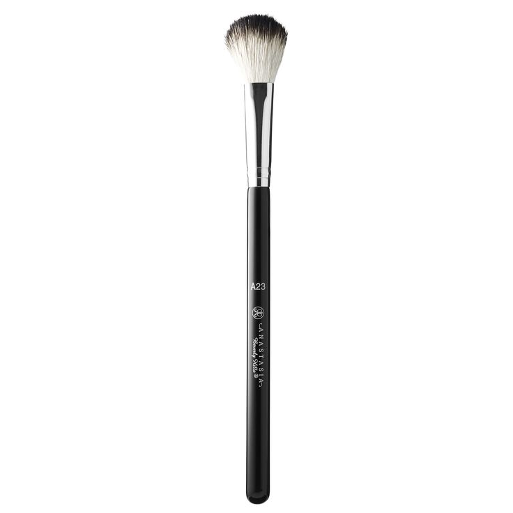Shop Anastasia Beverly Hills' Brush #23 at Sephora.  It has a large, round diffuser brush with tapered, natural bristles for easy highlighter application.